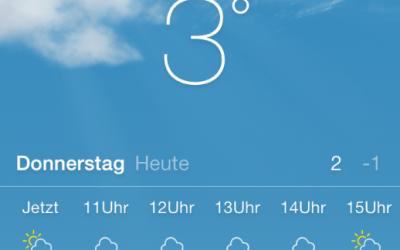 Der kälteste Monat
